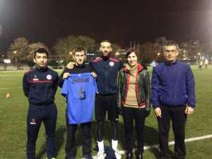 Saĩd, Edison, Bassam avec Sophie Raggio et Touffik Azzi